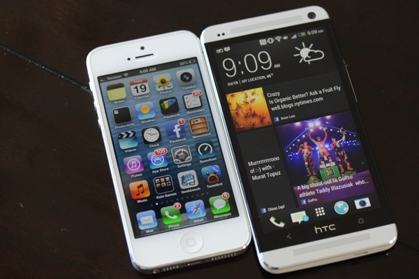 HTC One vs iPhone 5