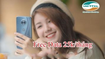 Hướng dẫn đăng ký goi cước CN25K Viettel, miễn phí data không giới hạn chỉ 25,000đ/tháng